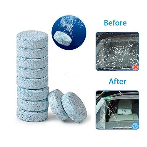 Aolvo Effervescenti Liquido Universale Auto Pulizia Compresse Effervescenti 10 x 4 L 10Pcs / Pack Per la pulizia di Car Parabrezza Accessori per Auto,Bagno,Vestiti e Ecc-Blu