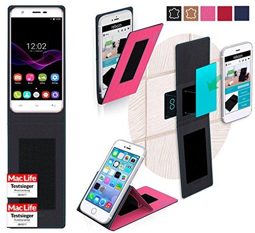 reboon Hülle für Oukitel U7 Max Tasche Cover Case Bumper | Pink | Testsieger