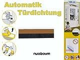 Türdichtung Türabdichtung Türbodendichtung Automatik 100cm nussbaum