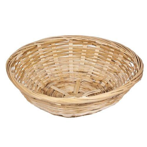 Get Goods GG Cestas de Mimbre Redondas de 20cm. Entrelazado de bambú.Cestas de Almacenamiento (12 Unidades)