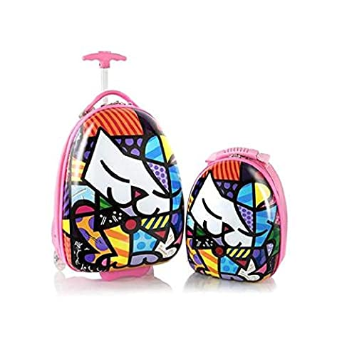 Heys Britto Kitty Unique Designed Kids 2 Piece Luggage Set Carry-on Luggage 18 Inch Backpack Inch (Pink)