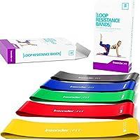 Weerstandsbanden - Set van 5 Loop Resistance Bands met ebook - Fitnessbanden voor Training Thuis Sportschool Gym -...