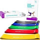 Resistance Bands - Best Exercise Loop Band Set of 5 - FREE EBOOK