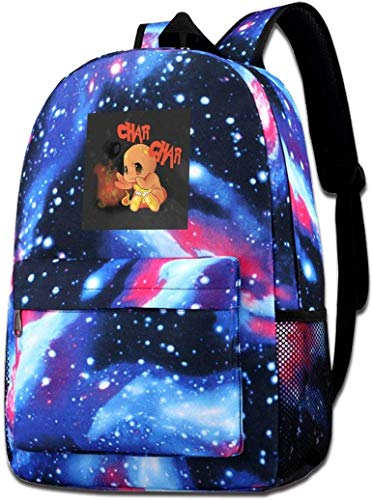 Galaxy Printed Shoulders Bag Monster of The Pocket Charmander Baby Fashion Casual Star Sky Backpack for Boys&Girls