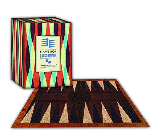 Robert Frederick Juego de Backgammon en Caja Plegable de Juegos geométricas