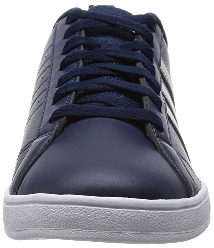 adidas Advantage Clean VS, Baskets Basses Homme, Blanc, Eu Blau (Collegiate Navy/Clear Onix/Solar Yellow)
