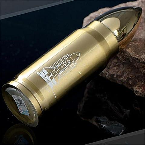 Edelstahl-Thermoskanne Kreative Schalen Edelstahl Isolierung Tassen männlichen und weiblichen Paar Business Bullet , 1