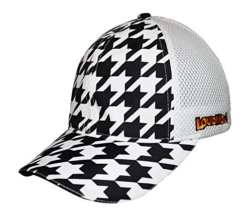 headsweats-trucker-hat-with-closed-back-mesh-and-loudmouth-styling-oakmont-houndstooth-one-size-by-h