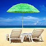 Greenbay Hawaiian Parasol Beach Parasol Patio Garden Umbrella Sun Shade Tilting Green