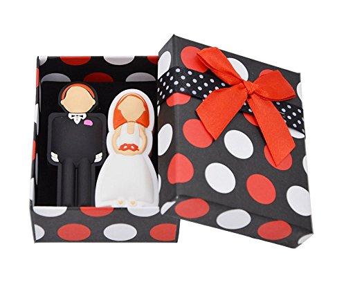 FEBNISCTE 16GB USB-Stick 2.0 Ein Paar Hochzeitsgeschenke Flash-Speicherstick