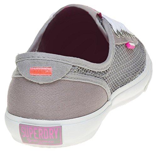 Damen Grau Pro Malha Superdry Sneaker Baixo IxqUfz