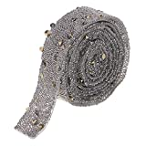 Baoblaze Strassband selbstklebend Perlen Band Dekoband zum Aufbügeln für Hochzeit und Schmuck Dekoration
