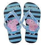 Peppa Pig Infradito George Pig Flip Flop Schuhe Schuhe für Kinder 25 bis 30 Ultima Größe 29/30