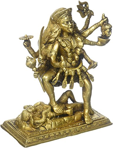 Messing Statue of MA Kali Hindu Göttin Idol für Puja 24,1cm, 4,8kg