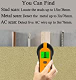 Stud Finder Center-Finding 3-in-1 Metal AC Wire Stud Wall Detector Wall Wire Scanner Wood Finder with LCD Display and Beep Warning Bild 2