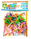 #7: Reckonon Colourful Plastic Stick kit/Blocks Connector Set, for Innovative Shapes and Designs for kids