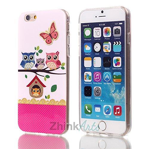 zhink Arts Chouettes Étui de protection avec motifs différents pour iPhone & Samsung Housse Case Cover style Bird Chouette Eule M12