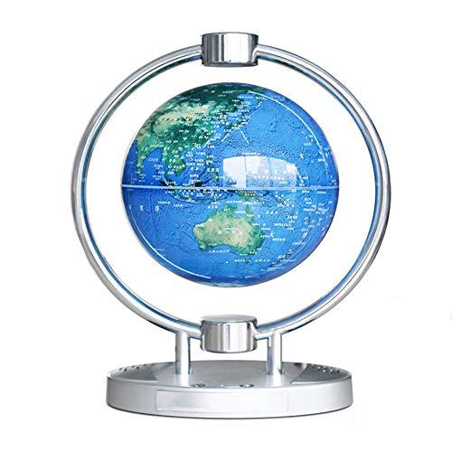 BZDBZ Globo de Levitación Magnética de 6 Pulgadas con Luces Y Audio Bluetooth Levitación Magnética Mapa del Mundo Globo Decoración de Escritorio Lámpara de Mesa (Luz de Constelación)