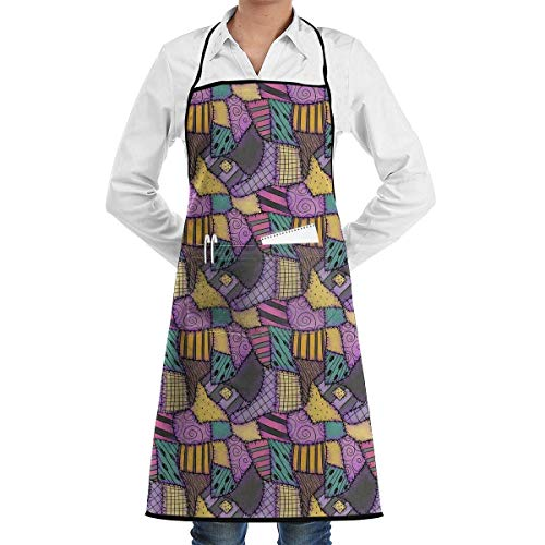 Sally Ragdoll Scraps Bib Apron Chef Apron with Pockets for Male and Female