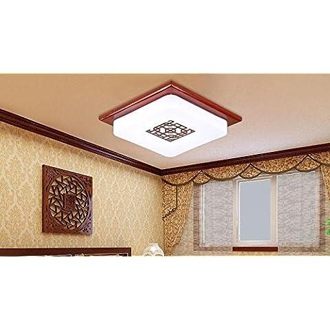 APSD-Illuminazione calda I cinesi, ha portati, a soffitto lampade, in legno massello, semplice, camera da letto, camera, studio sala, corridoio, sala, balcone, (32 * 32cm)