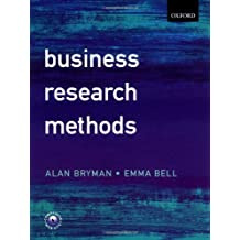 Business Research Methods by Alan Bryman (2006-12-04)