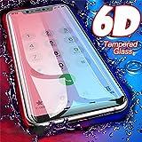 PmseK Protection d'Écran,Verre Trempé,Film Protecteur d'Écran,6D on Glass for Redmi Note 7 6 5 Pro 4X Screen Protector Redmi 7 6A 5 Plus Tempered Glass for Mi 9 8 A2 Lite Mi A1 Redmi 5 Plus Black