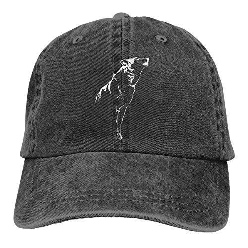 cvbnch Cowboy-Hut Sonnenkappen Sport Hut Howling Wolf Men's Women's Adjustable Baseball Hat Yarn-Dyed Denim Trucker Hat Sports Cool Youth Golf Ball Unisex Hiking Cowboy hat hip hop