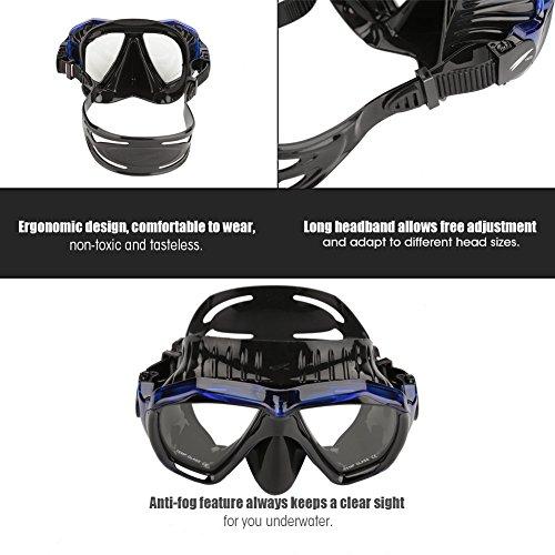 Alomejor Máscara de Buceo Unisex Easybreath Gafas de Snorkel antivaho máscara de Vidrio Templado Adulto Snorkel Set