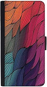 Snoogg Vector Abstract Hand Drawn Waves Texture Graphic Snap On Hard Back Lea...