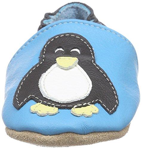 HOBEA-Germany Lauflernschuhe Pinguin, Chaussures Bébé quatre pattes (1-10 mois) mixte bébé Turquoise (türkis)