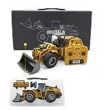 HUINA TOYS HUINA 1583 Bulldozer Escavatore Professionale 2.4G 1:14 RTR a 10 canali Comprese 2 batterie al Lipo - Completamente in Metallo - Rivenditore Autorizzato