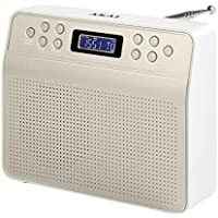 Akai A60013C Portable DAB Radio Alarm Clock with LCD Screen - Champagne - ukpricecomparsion.eu
