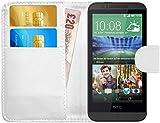 G-Shield Hülle für HTC Desire 510 Klapphülle mit Kartenfach - Weiß