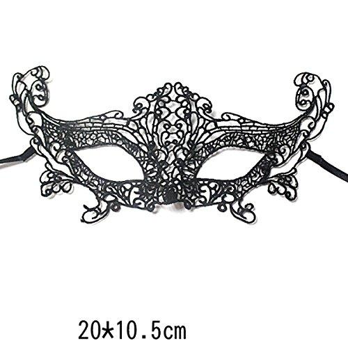 XGMSD Mode Requisiten Party Spitze Halloween Spaß Flirt Show Bühne Sexy Maske (Flirt Kostüme Spitzen)