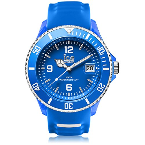 Ice-Watch - Ice Sporty Blue White - Blaue Herrenuhr mit Silikonarmband - 001332 (Extra large)