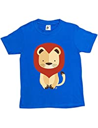 Fancy A Snuggle Geometric King Of The Jungle Lion With Mane Kids Boys / Girls T-Shirt