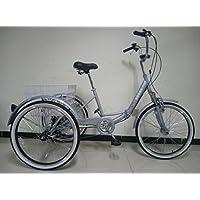 Adultos plegable triciclo, ruedas de 24