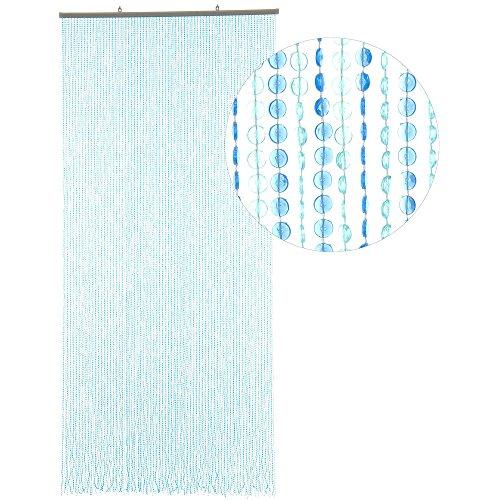 Hab & gut -dv0243- tenda per porte mini-diamanti blu/blu chiaro 90 x 200 cm