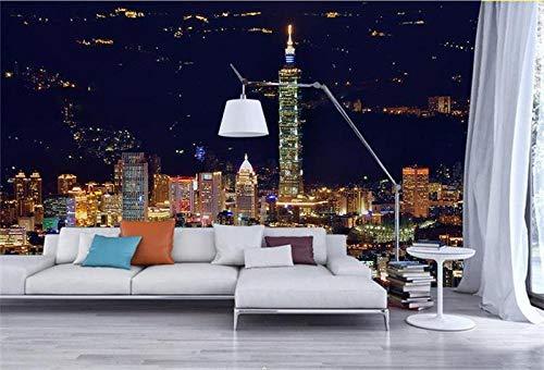 rylryl 3d wallpaperroom mural photo wallpaper Urban night landscape art TV fondo...