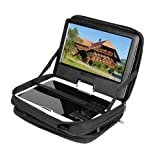 "New Black 9.5"" Portable DVD Player Case Carry Bag with Strap for Car Headrest Mount"