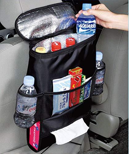 Kabalo Autositz Veranstalter / Tidy mit isolierte Kühltasche und Gewebespender, Getränkehalter Kühler Kühlschrank -