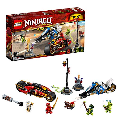 LEGO 70667 Ninjago Legacy Kai's Blade Cycle and Zane's Snowmobile Building Kit, Colourful Best Price and Cheapest