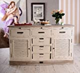 Antike Anrichte, Konsole, Sideboard, Wandschrank, Ablage in Villa-Vintage-Art, aus Holz in der Farbe Weiß, einzigartig schönes Möbelstück - Palazzo Exclusive