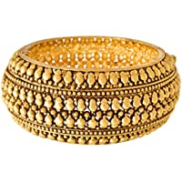 JFL - Jewellery for Less Gold-Plated Bangle for Women(2.2-inch, BB-6000103-105-RSS.22, Gold)
