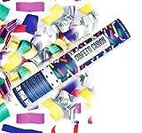 Konfetti Shooter 5 Stück Party Popper bunte Folien Konfetti Kanone 40 cm Hochzeit - von Haus der Herzen ®