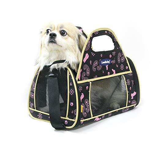 KPOON Haustierrucksack Haustierhandtasche Tragbare Faltbare Umhängetasche Wandertasche für Reisen im Freien Zum Ausgehen geeignet Geeignet für Haustiere (Farbe : Schwarz) -