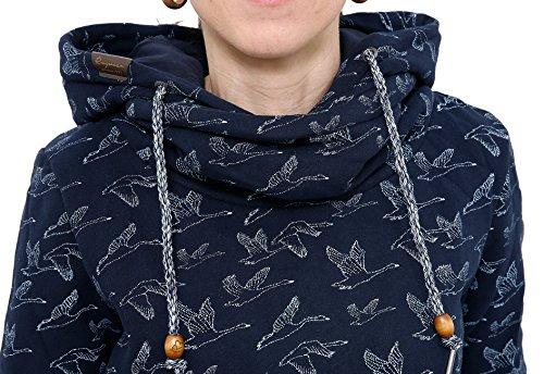 9cb9fd98fd70 ... RAGWEAR Damen Pullover Sweatshirt HOOKED 1721-30024 Navy ...