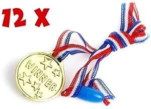 Médailles en Plastique pour enfants - Pack de 12