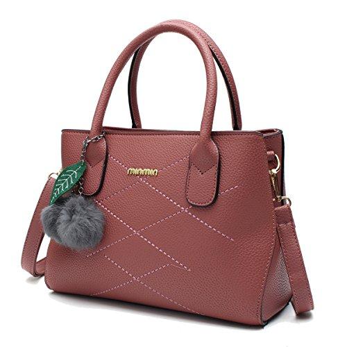 OURBAG Donne Borse in pelle PU Borsa a tracolla Top borse da maniglia Blu Rosa