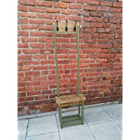 Coat stand finished in USA Army Green with seat & shoe storage Narrow hallway coat rack bijou coat rack ideal for porch